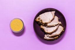 Slices of roast pork