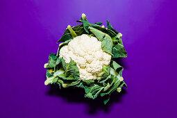 A whole cauliflower