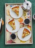Apple pie baked in a pan
