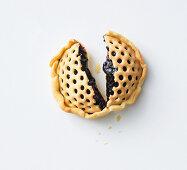 A mini blueberry pie