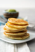 A stack of blinis