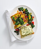 Ricotta and courgette terrine with chard
