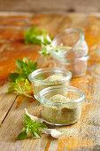 Homemade basil and garlic salt