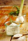 Homemade Italian rosemary salt