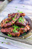 Grilled spare ribs