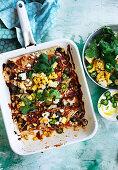 Zucchini, Black Bean and Corn Enchiladas