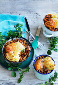 Vegetable and Lentil Potato Pies