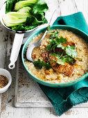 Brown Rice Congee with Tofu