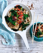 Gai Lan, Mushroom and Five Spice Noodles