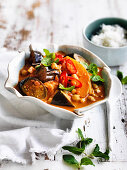Pumpkin, Eggplant and Chickpea Curry