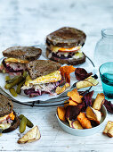 Beetroot and Apple Reuben Sandwiches