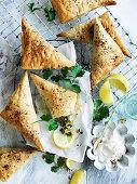 Cauliflower Pastilla Triangles