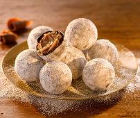 Champagne truffles with milk chocolate