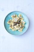 Ravioli di spugnole – ravioli with fresh moral mushrooms