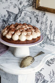 Coffee and chocolate cream pie