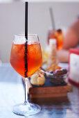 Aperol Spritz during aperitivo in Sicily