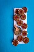 Vegan hemp and raspberry muffins