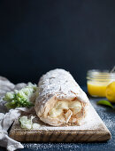 Limoncello lemon curd and white chocolate mousse roulade