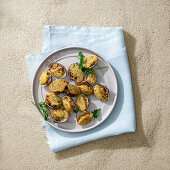 Gratinated clams filled with ricotta