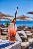 A cocktail on a beach