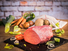 Beef (hind leg cut) and vegetables