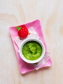 Zucchini, Pea and Corn Puree for babies (6-9 Months)