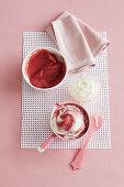 Rhubarb, Apple and Yoghurt Puree for babies (6-9 Months)
