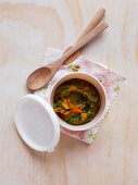 Carrot and Spinach Puree for babies (6-9 Months)