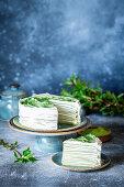 Matcha crepe cake