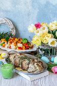 Pork in sour cream sauce for Easter