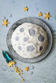 A Sea of Tranquillity cake for a Moon Landing party