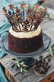 Chocolate cake with garam masala