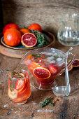 Lemonade with blood orange