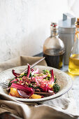 Blood orange and red endive salad