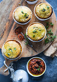 Duck and lentil pies
