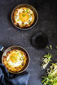 Eggs in potato cages