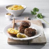 Meatballs with potato salad