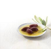 Kalamata olives in olive oil