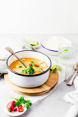 Red Thai curry with chili