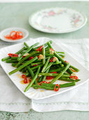 String Beans with Garlic and Chilli