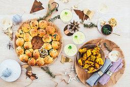 Vegetarian Christmas starters