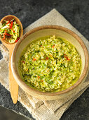Wholemeal risotto with courgette