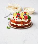 Berry mojito cake