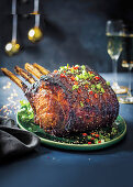 Asian marinated prime rib with herb butter