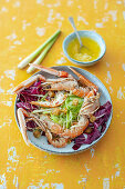 Langoustines with apple celery salad and lemongrass-ginger butter (Australia)