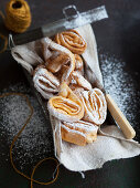 Tagliatelle fritters - Fried pastries for Carnival (Italy)