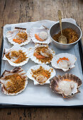 Galician style scallops