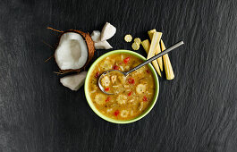 Thai Green Chicken Curry Soup