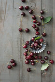 Cherries and baking cups