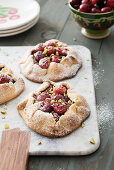 Cherry and pistachio galettes